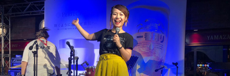 中州ジャズフェスタ司会の平野綾菜画像