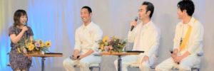 いだてんトークツアーステージ上でMC平野綾菜と出演者3人トーク中