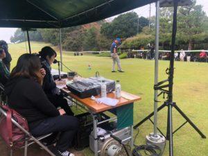 福岡シニアオープンゴルフトーナメントの様子