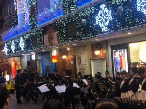 福岡県警察年末の交通安全キャンペーンの時の音楽隊