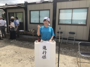 2018年 町長選挙のイベントで進行役の平野綾菜